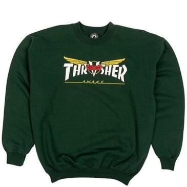 Thrasher Venture Collab Sweatshirt - Forest Green