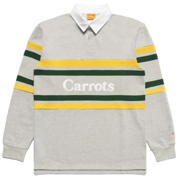 """CARROTS -""""WORDMARK STRIPED RUGBY SHIRT"""" (HEATHER GREY)"""