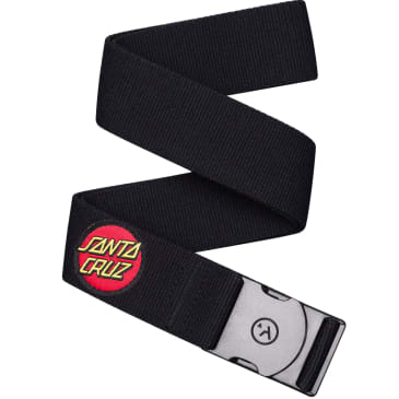 Arcade Belts - Arcade Rambler Santa Cruz Belt | Black & SC Dot