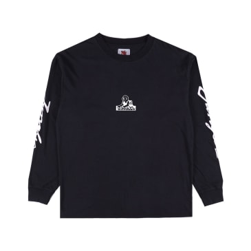 "JUNGLES - ""LONG SLEEVE LOGO T-SHIRT"" (BLACK)"