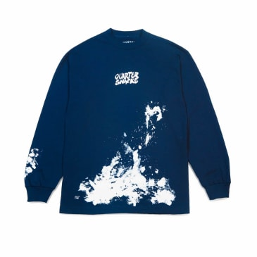 Quartersnacks Splatter Long Sleeve T-Shirt - Navy