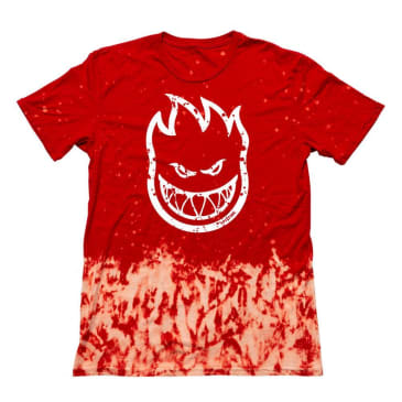 Big Head Outline Fill Tee (Red Wash/White)