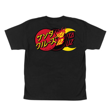 SANTA CRUZ Youth Group Dot Tee Black