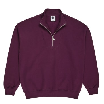 Polar Skate Co Zip Neck Sweatshirt - Prune