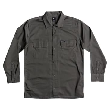 DC Shoes Wasdale Long Sleeve Workwear Shirt Dark Shadow