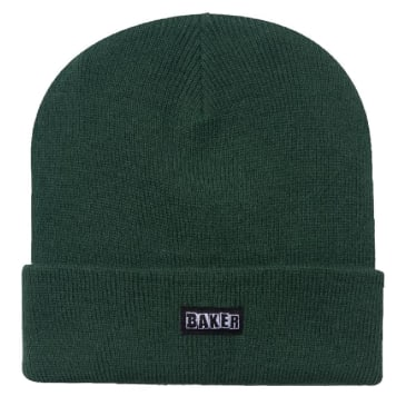 Baker Skateboards Brand Logo Beanie - Hunter Green
