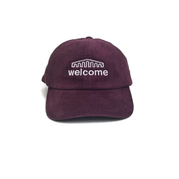 Welcome Skate Store - Arch Cord Cap - Burgundy