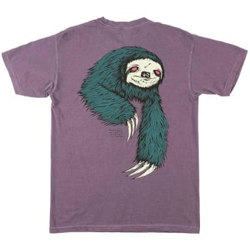 Welcome Skateboards Sloth Garment Dyed T-Shirt - Wine