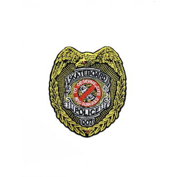 Powell Peralta Skateboard Police Badge Iron on Patch