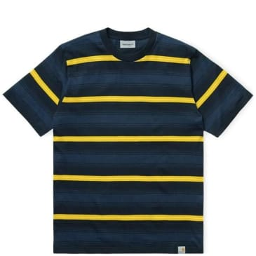 Carhartt WIP Buren Stripe T-Shirt - Dark Navy