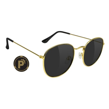Glassy - Pierce High Roller Polarized Sunglasses - Gold