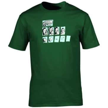 Theories of Atlantis Trippy T-Shirt - Forest Green