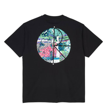 Polar Garden Fill Logo T-Shirt - Black