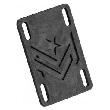 "Mini Logo Riser Pad 1/8"" Rubber Black"