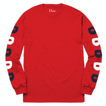 """Dime """"D"""" Long Sleeve Tee Red"""