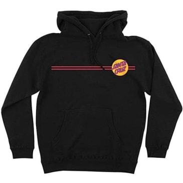 Santa Cruz Other Dot Hooded Heavyweight Sweatshirt (Black/Mustard)