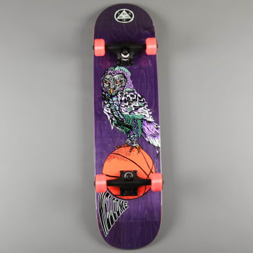 """Welcome 'Hooter Shooter on Bunyip' 8"""" Complete Skateboard (Purple Stain)"""