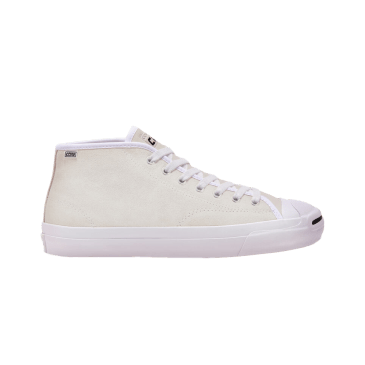 Converse Cons Jack Purcell Pro Mid Skateboarding Shoe - White / White / White