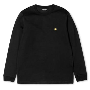 Carhartt WIP Chase Long Sleeve T-shirt - Black/Gold