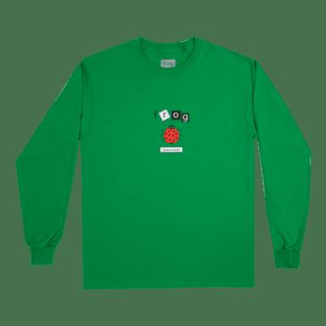 Frog Skateboards Ladybug Long Sleeve T-Shirt - Green