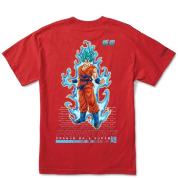Primitive DBZ Super Super Shadow Goku T-Shirt - Red