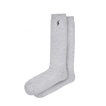 Polar Skate Co. No Comply Sport Socks - Sports Grey / Black