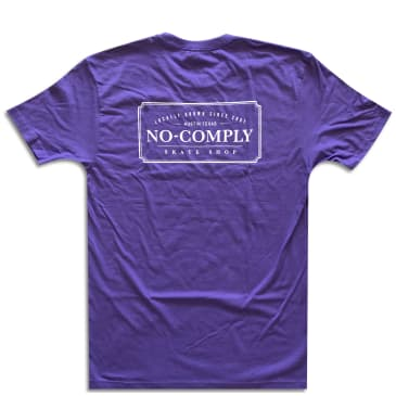 No Comply Locally Grown T-Shirt - Purple