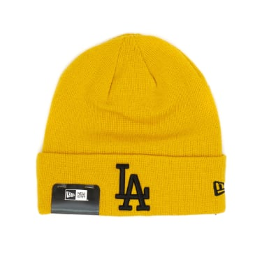 New Era Los Angeles Dodgers Essential Cuff Beanie - Mustard