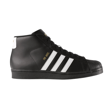 adidas Pro Model Skateboarding Shoe - Core Black/FTWR White/Gold Met
