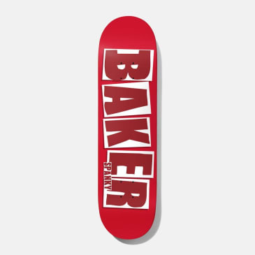 """Baker Skateboards Spanky Brand Name Red Skateboard Deck - 8.25"""""""