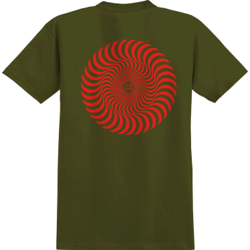SPITFIRE Classic Swirl Tee Military Green/Red