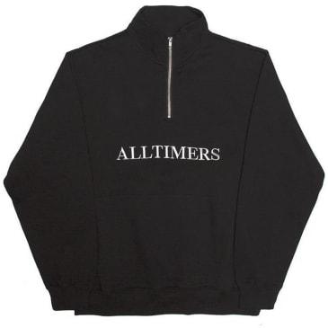 Alltimers Nextel Zip Crewneck - Black