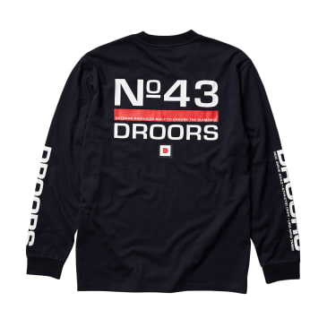 Droors No 43 Long Sleeve T-Shirt - Navy