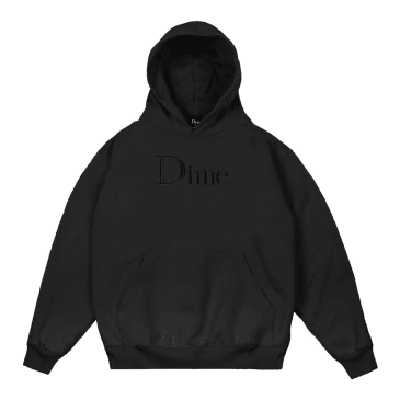 Dime Classic Logo Embroidered Hoody Black
