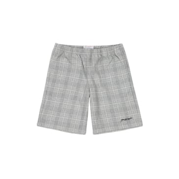Yardsale Flannel Shorts - Grey / White