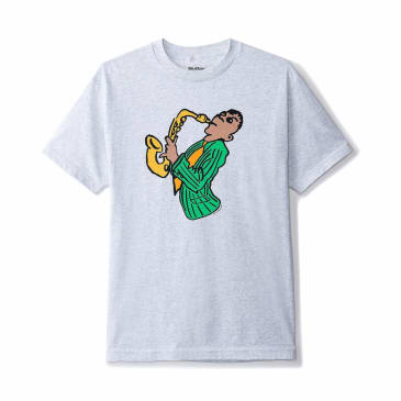 Butter Goods Sax T-Shirt - Ash Grey