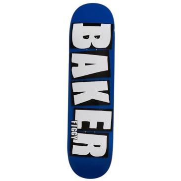 Baker Skateboards Figgy Brand Name Blue Skateboard Deck - 8.125
