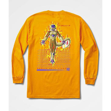 PRIMITIVE DBZ Super Golden Frieza Long Sleeve Tee Gold