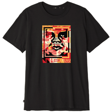 OBEY 3 Face Collage T-Shirt - Black