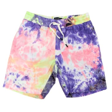 "THE QUIET LIFE- ""TIE DYE NYLON BEACH SHORT"" (MULTI)"