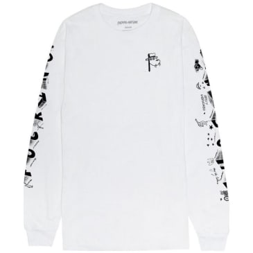 Fucking Awesome Block Letters Long Sleeve T-Shirt - White