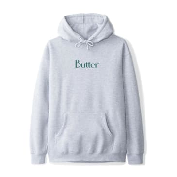 Butter Goods Speckle Classic Logo Pullover Hoodie - Heather Grey