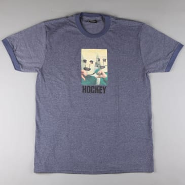 Hockey 'Baghead' Ringer T-Shirt (Heather Navy)