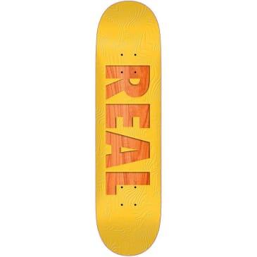 Real Skateboards Bold Series Yellow Skateboard Deck - 8.06