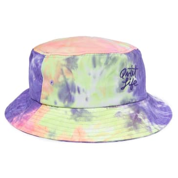The Quiet Life - Neon Tie Dye Bucket Hat