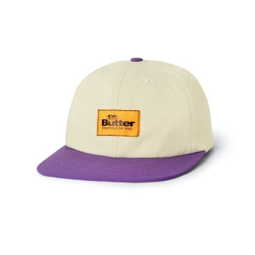 "BUTTER GOODS- ""VENTURA SIX PANEL CAP"" (KHAKI/PURPLE)"