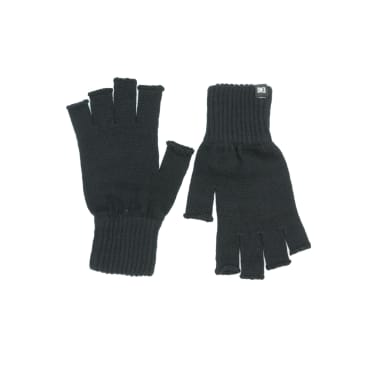 Makia Flag Wool Fingerless Gloves - Black