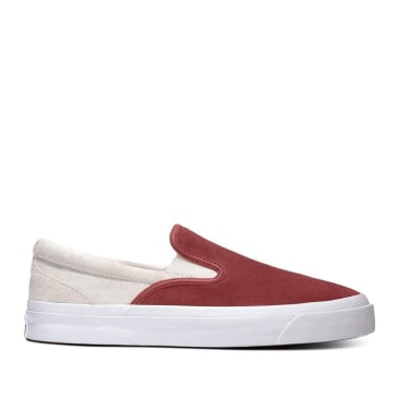Converse CONS One Star CC Pro Suede Slip Shoes - Team Red / Egret