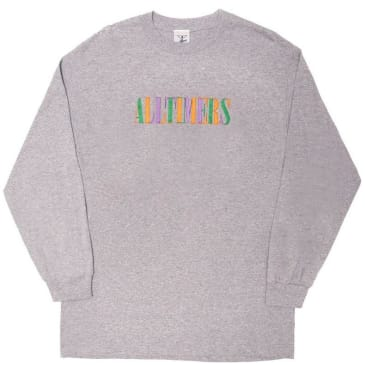 Alltimers Midtown Embroidered Long Sleeve T-Shirt - Heather Grey