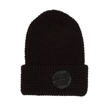 SANTA CRUZ Felt Dot Beanie Black